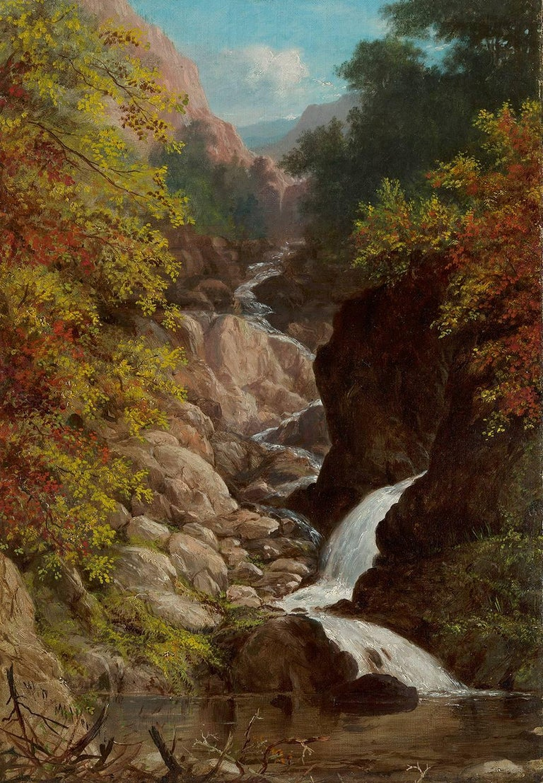 William Rickarby Miller Landscape Painting - On the Ausable River