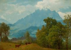 Mount Pilatus above Lake Lucerne