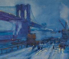 Jonas Lie - View of Brooklyn Bridge