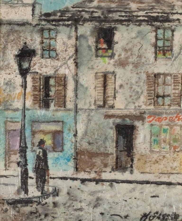 Henry Martin Gasser Landscape Painting - Street Corner