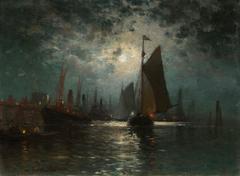 Moonlight at Greenport