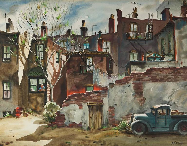 Henry Martin Gasser - Backyard Springtime, Painting For ...