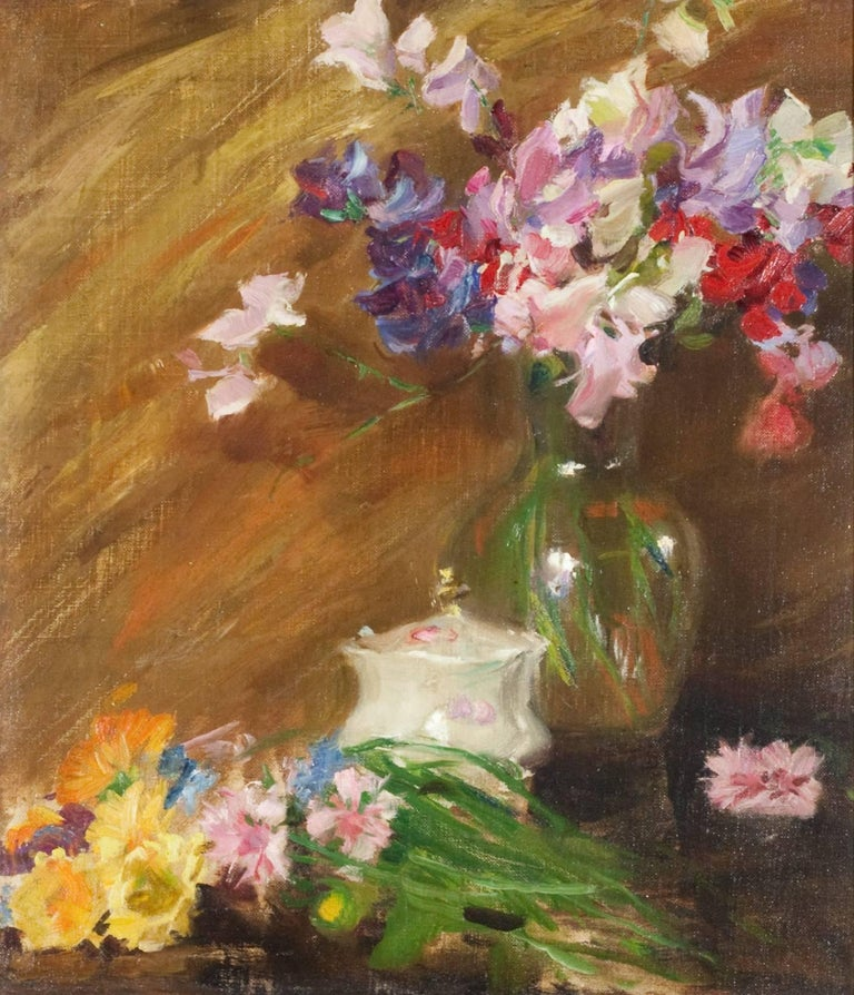 Irving Ramsey Wiles Still-Life Painting - Still Life with Bouquet and Sugar Bowl