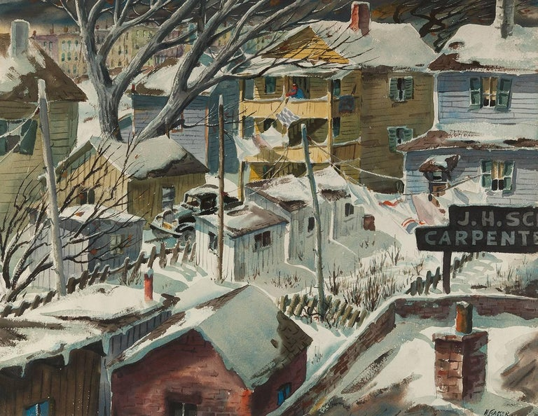 Henry Martin Gasser - Backyard Colony, Painting For Sale ...