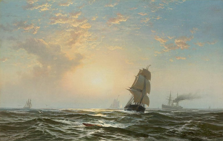 Edward Moran Landscape Painting - Seascape