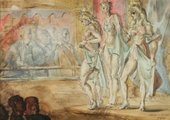 Burlesque Scene (Women Walking Along the Waterfront)