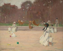 Nursemaids and Children Playing at the Beach