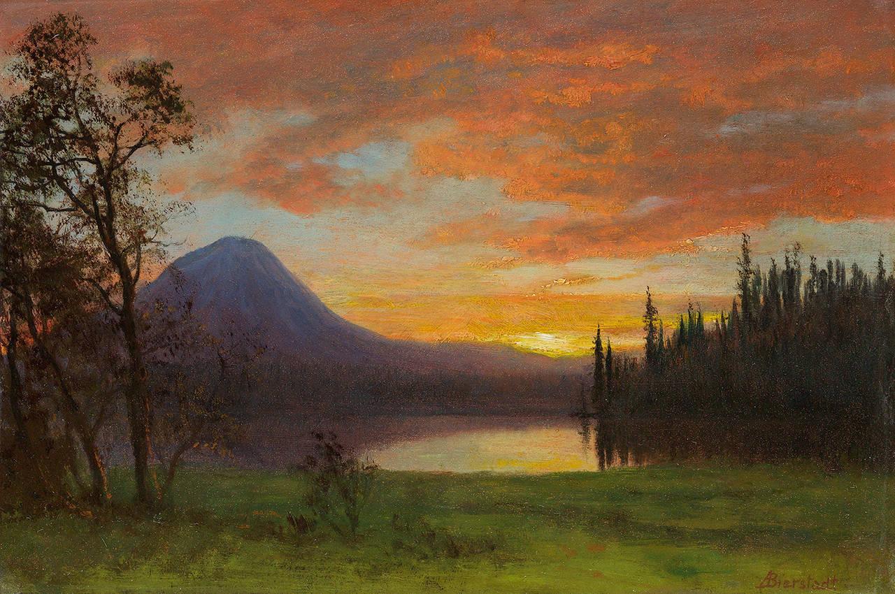 Albert Bierstadt Purple Mountain Mountain Landscape