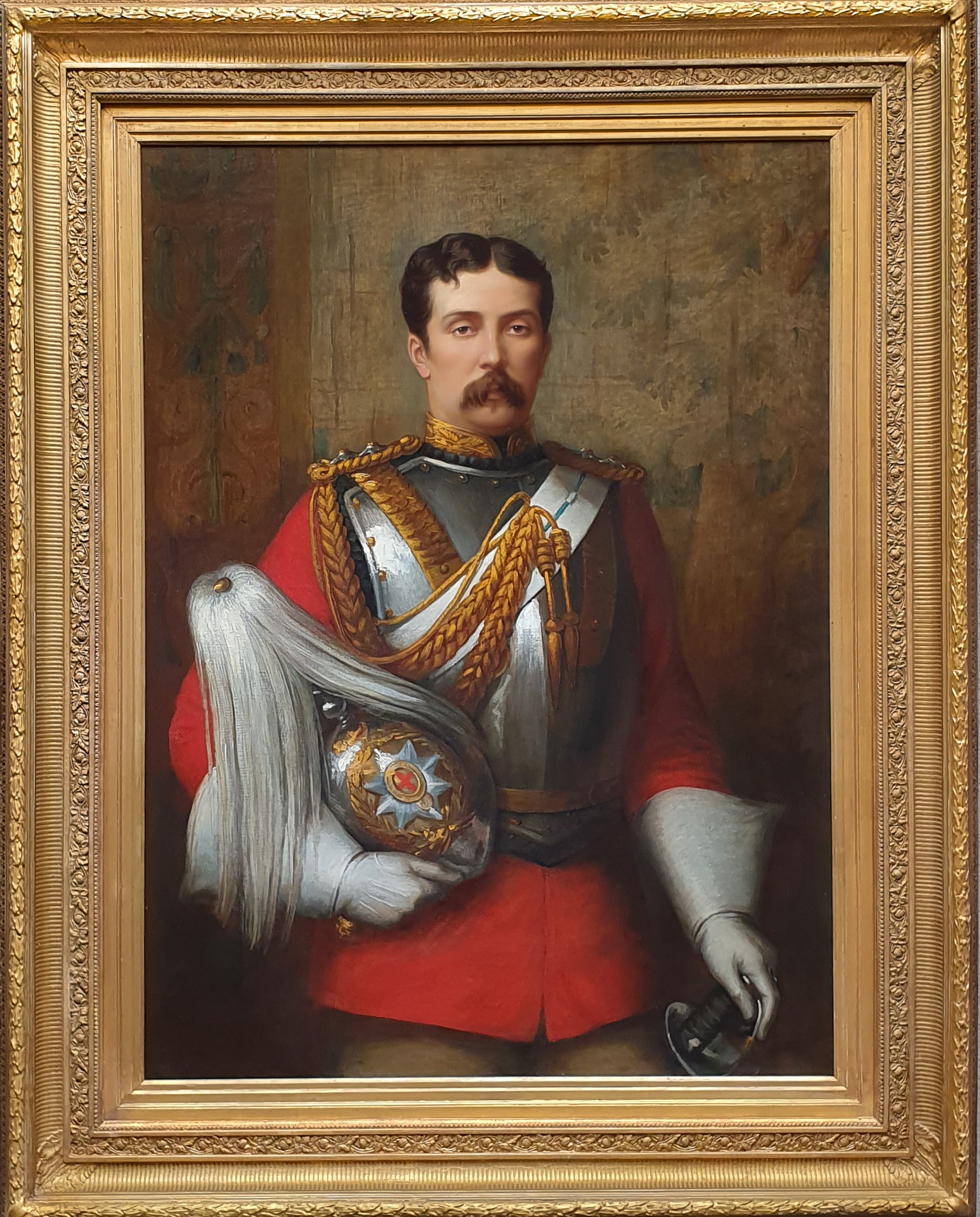 PORTRAIT of Captain Cecil Alfred Tufton Otway (1845-1884) c.1877 Signed