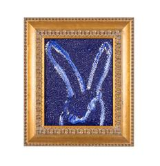 Dark blue diamond dust bunny
