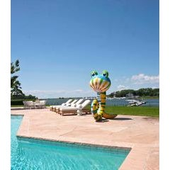 Phillip maberry pool toy sculpture ceramic sculpture for Outdoor pool sculptures