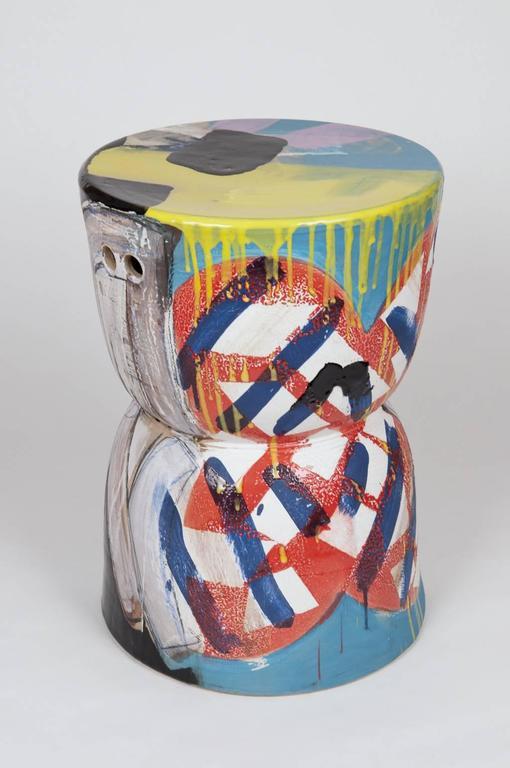 Reinaldo Sanguino Hourglass Garden Stool Ceramic