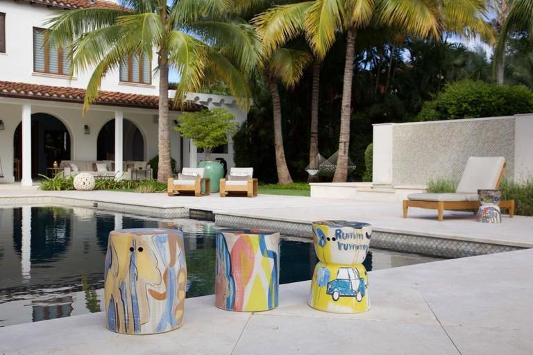 Reinaldo Sanguino Ceramic Garden Stools Ceramic