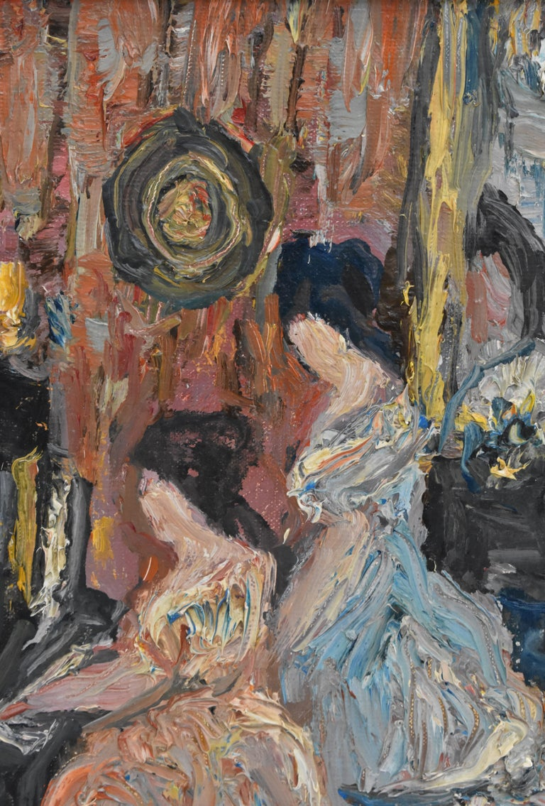 Elegant company during a matinee - Expressionist Academie Beaux Arts Paris  For Sale 3