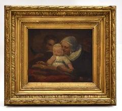 Family Portrait, Oil on Canvas - Antoine Wiertz