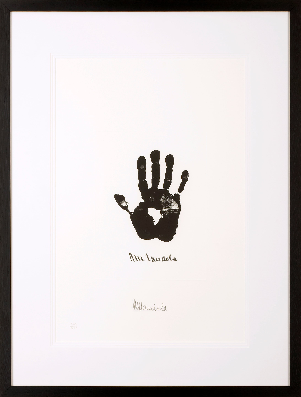 Hand of Africa - Mandela, Former South African President, Signed Artwork, Hand