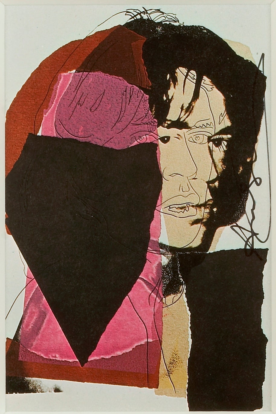 Mick Jagger VII - Andy Warhol, Announcement card, Rolling Stones, Musician, Pop