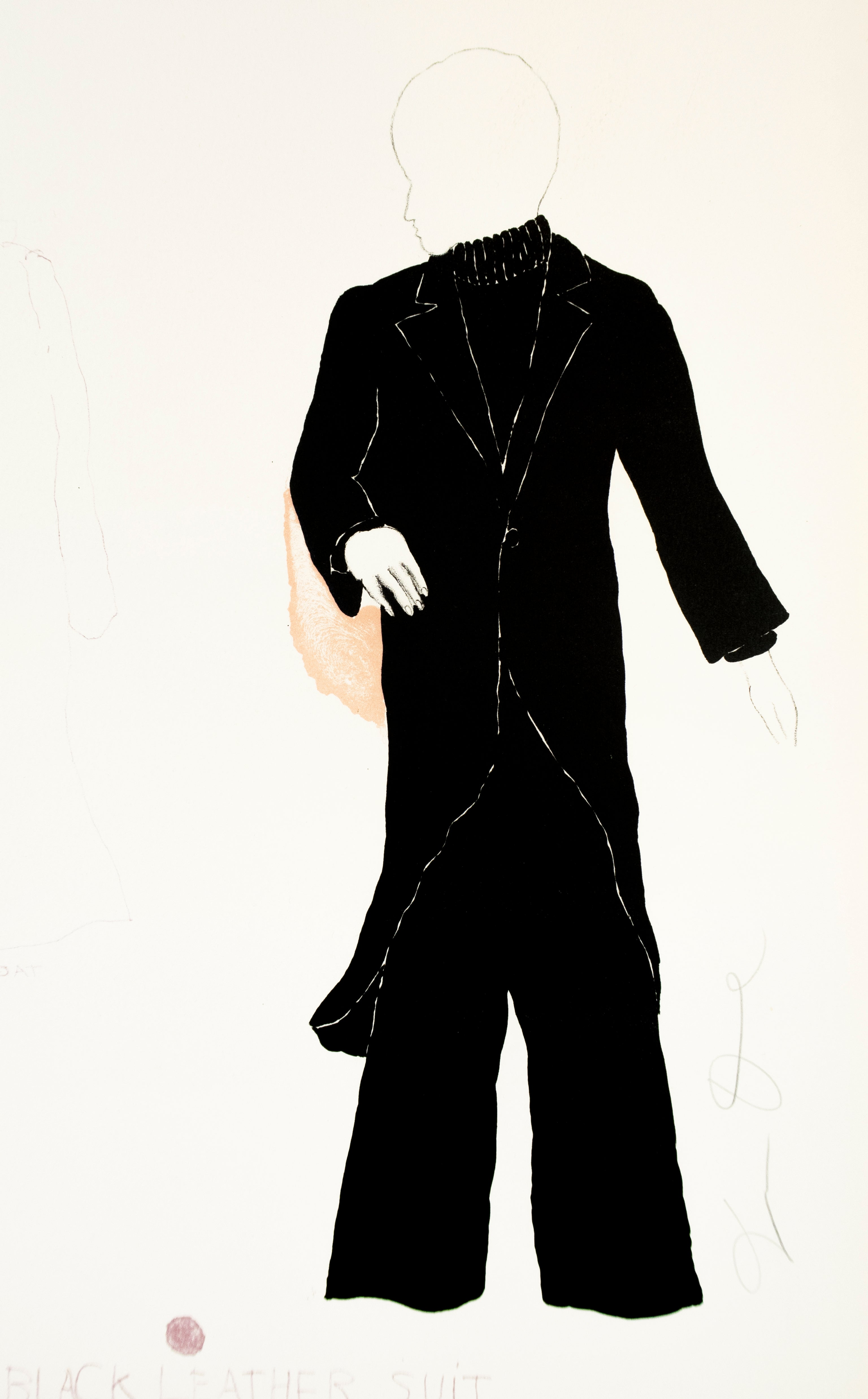 """Basil in Black Leather Suit from """"The Picture of Dorian Gray"""""""