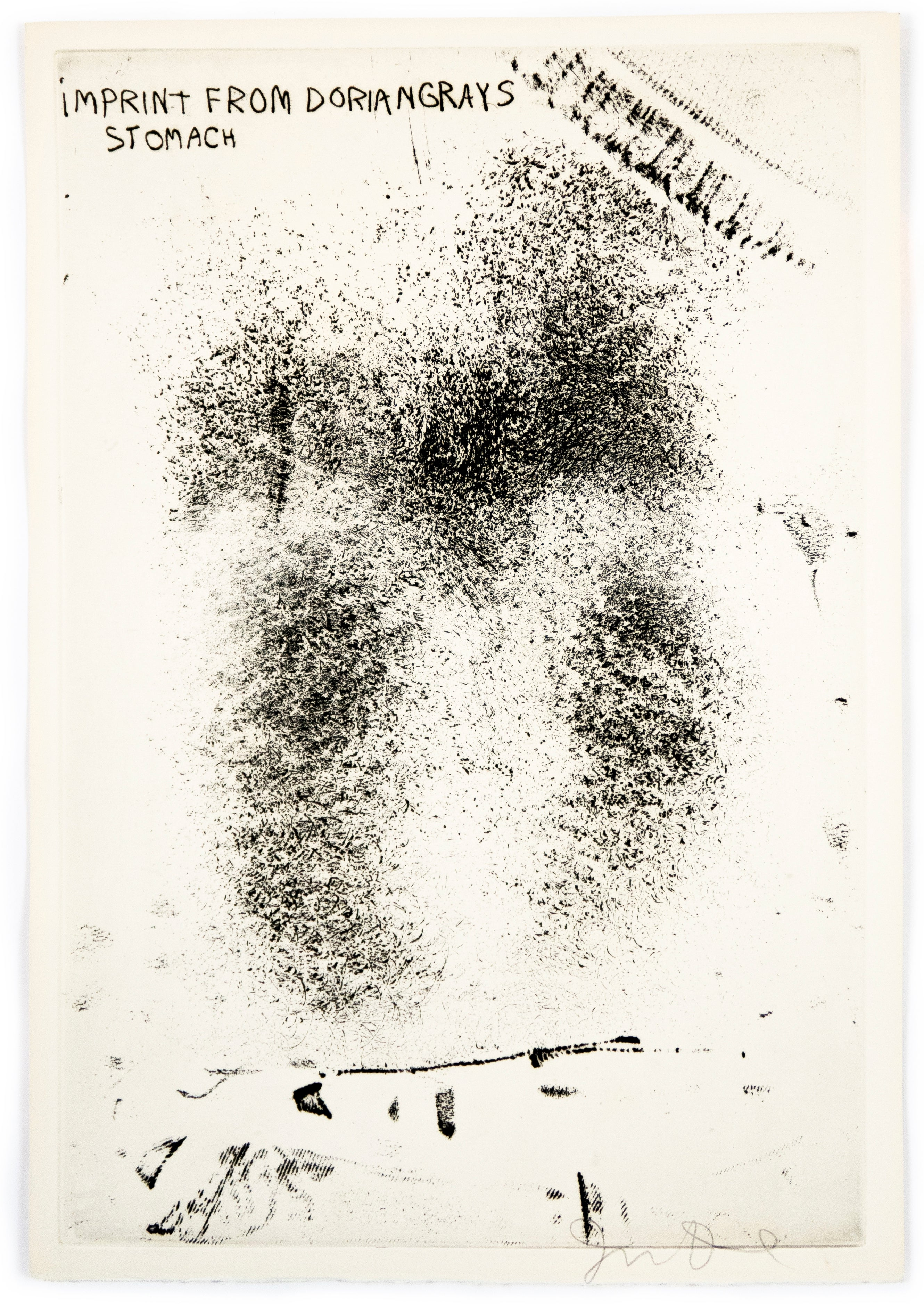 """Imprint from Dorian Gray's Stomach from """"The Picture of Dorian Gray"""""""