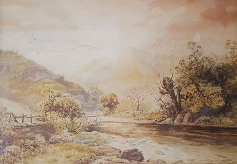 Rose Maynard Barton Landscape Art - Autumn, Langdale Pikes from Chapel Stile