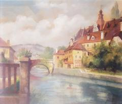 Barber's' Bridge in Cesky Krumlov