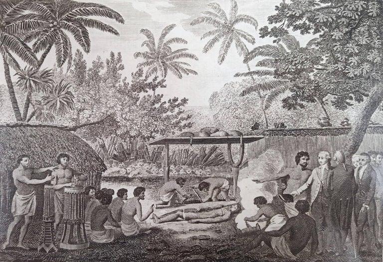 John Webber Figurative Print - Representation of Human sacrifice with Captain Cook