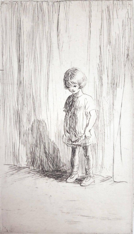 Eileen Soper Portrait Print - The New Pupil