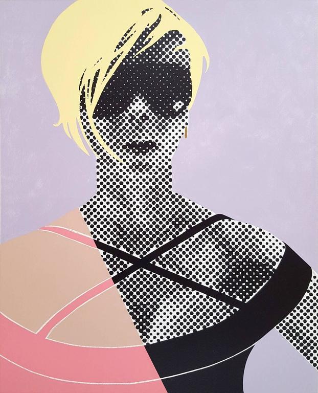 Gerald Laing Portrait Print - VB II - Victoria Beckham