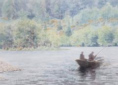 """Fishermen on the River Dee, Scotland"""