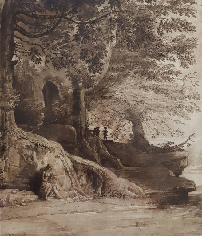 (after) Claude Lorrain (Claude Gellée) Landscape Print - Liber Veritatis