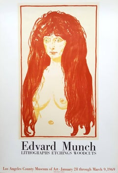 """""""Edvard Munch: Lithographs, Etchings, Woodcuts"""" at LACMA, printed by Mourlot"""