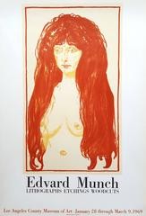 """Edvard Munch: Lithographs, Etchings, Woodcuts"" at LACMA, printed by Mourlot"