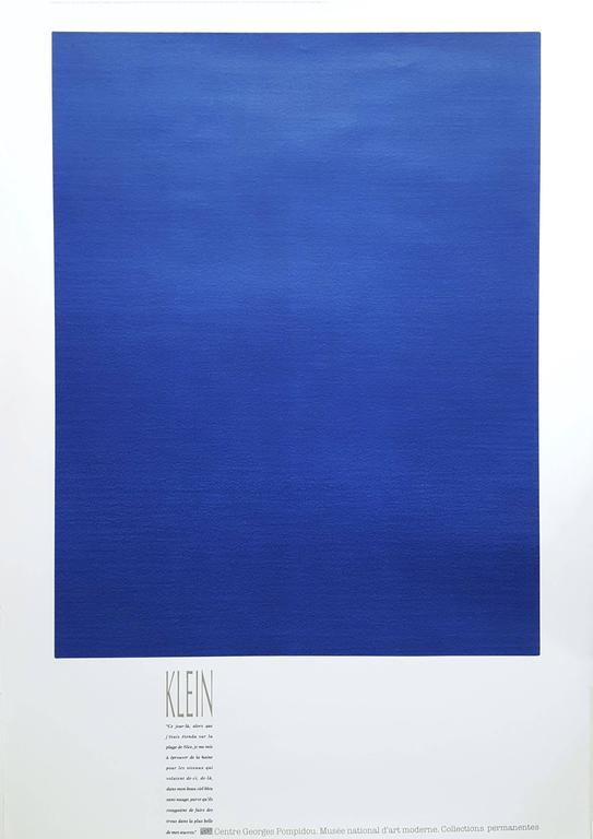 Yves klein monochrome bleu id49 jornalagora for A piscina yves klein