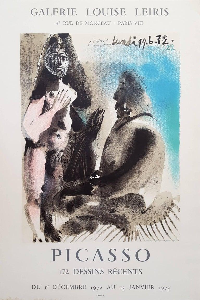 (after) Pablo Picasso Figurative Print -  Galerie Louis Leiris: The Painter & His Model