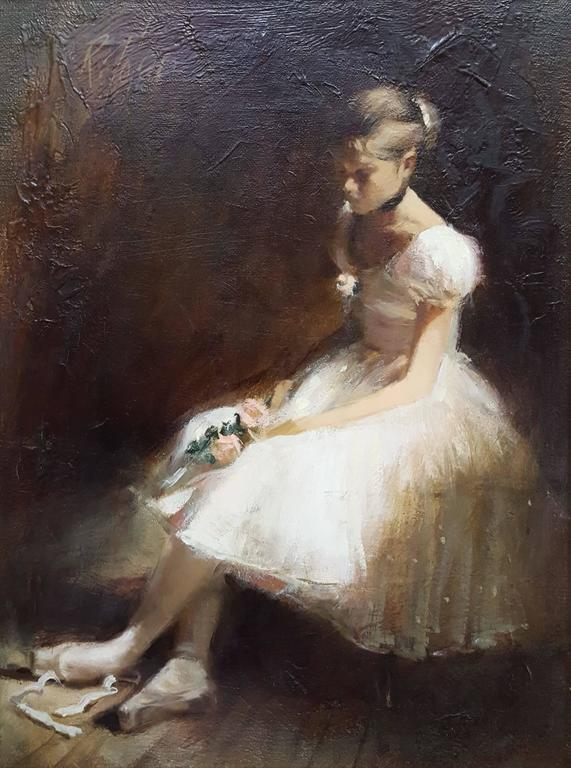 Richard Judson Zolan Ballerina Painting At 1stdibs