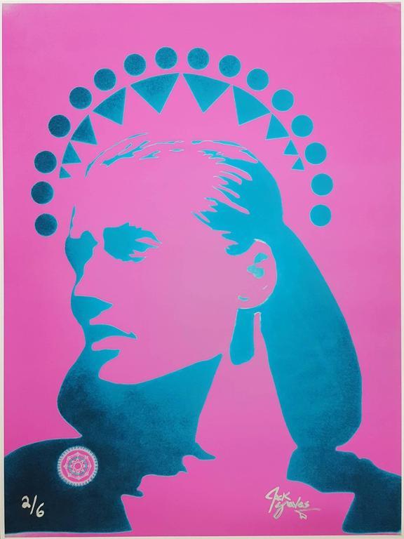 Jack Graves III Portrait Print - Guinevere Van Seenus Icon (Pink)