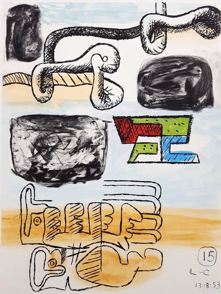 Le Corbusier Abstract Print - Unité, Planche 15 (Set of 2)