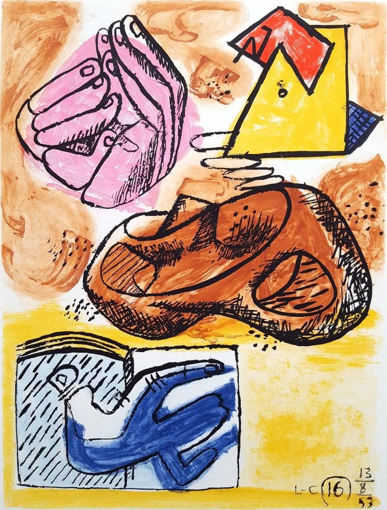 Le Corbusier Abstract Print - Unité, Planche 16 (Set of 2)