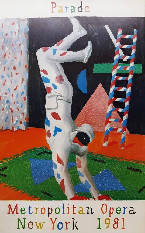 David Hockney Harlequin From Parade Print At 1stdibs