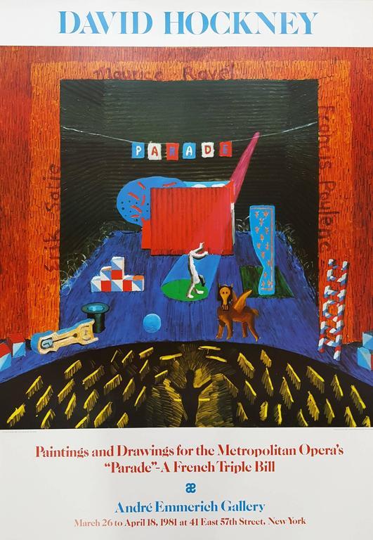 David Hockney Interior Print - Set for Parade