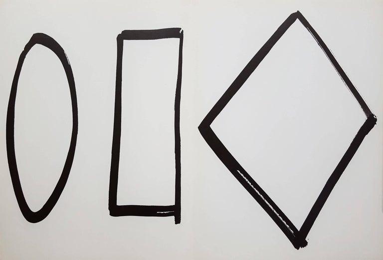Ellsworth Kelly Abstract Print - Derrière Le Miroir No. 149 (page 4, 13)