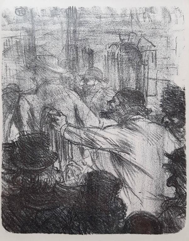 Henri de Toulouse-Lautrec Figurative Print - La Halle aux Draps. Cracovie