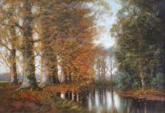 Pieter Ten Cate - Forest Brook in Autumn