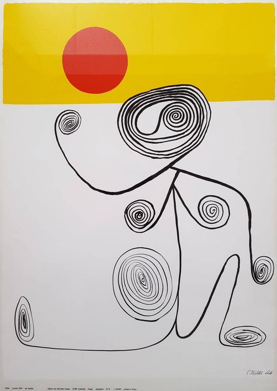 Alexander Calder Figurative Print - Untitled (Wire Figure)