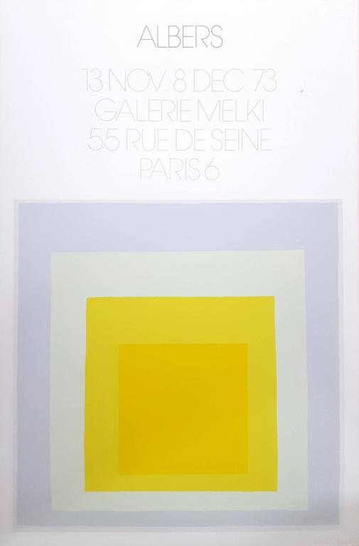 Josef Albers Abstract Print - Homage to the Square: Galerie Melki 3