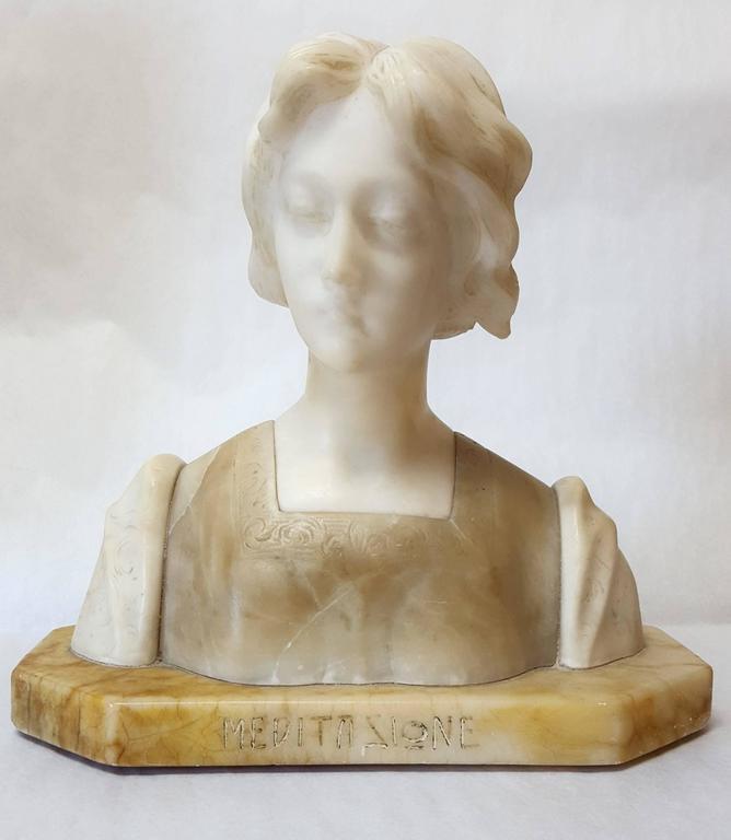 Giuseppe Bessi Figurative Sculpture - Meditazione