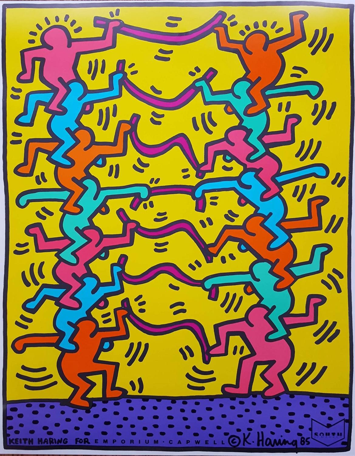 Keith Haring - Keith Haring for Emporium Capwell, Print at 1stdibs