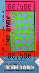 Andy Warhol - Lincoln Center Ticket (FS II.19)