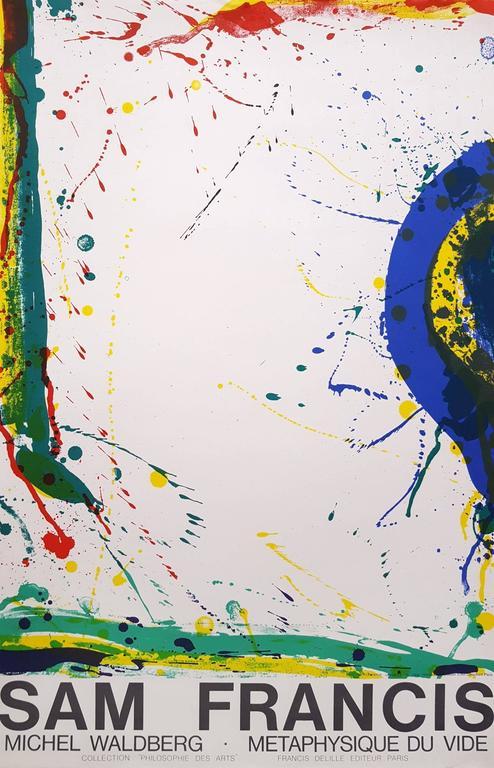 Sam Francis Abstract Print - Metaphysique Du Vide (L271)