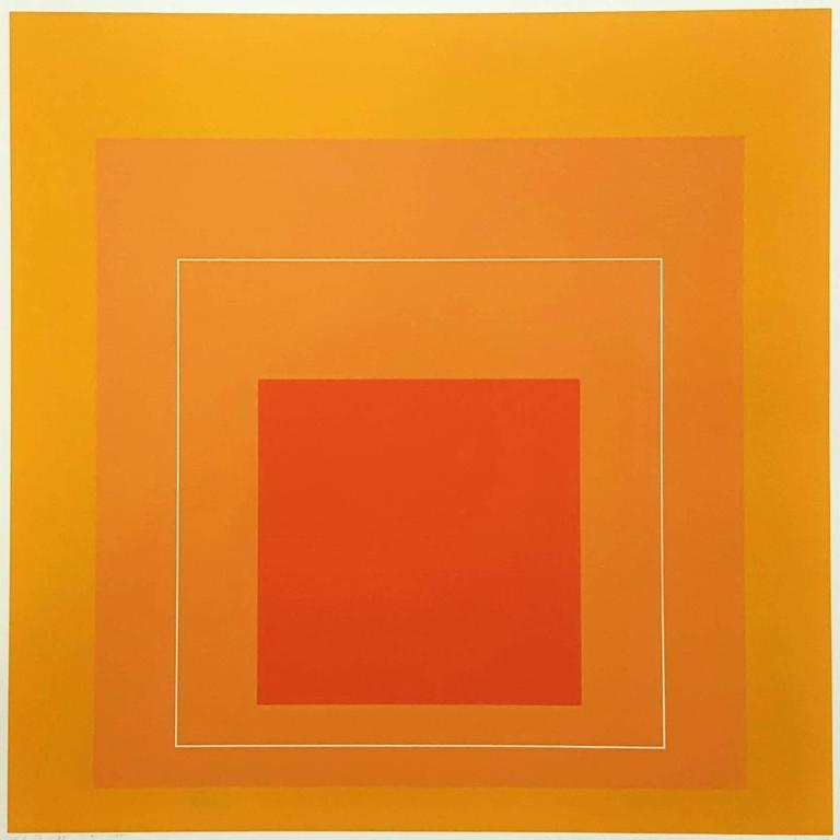 Josef Albers - WLS VI (White Line Squares Series I) 1